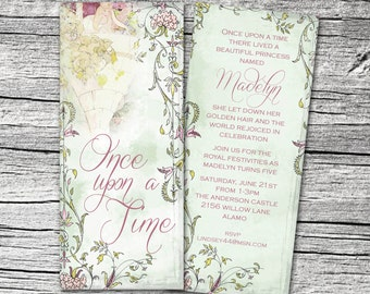 Rapunzel Princess Invitation and Thank You Cards