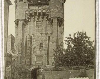 French Vintage Postcard - La Porte du Croux, Nevers, France