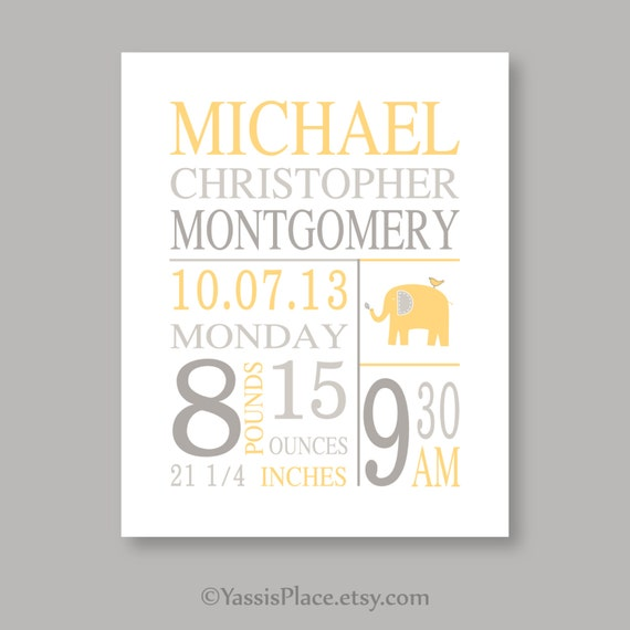 Baby boy Stats print, nursery wall art, baby girl, subway art, birth announcement, baby birth stats baby birth print baby name art print