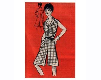 """Vintage Culottes Jumpsuit Sewing Pattern Pantskirt Romper Playsuit Shortsuit UNCUT 70s Mail Order Pattern Size 12 Bust 34"""" (86 cm)"""