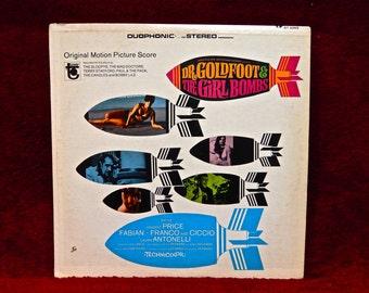 RARE...Dr. GOLDFOOT & The GIRL BOMBs - Original Motion Picture Score - 1966 Vintage Vinyl Record Album