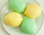 Lemon or Lime Soap - Citrus Fruit soap - Food Soap - Zesty green or juicy yellow
