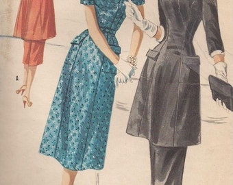 Vintage 1950s - Tunic and Skirt or Princess Dress - McCall's 3352 Vintage Sewing Pattern - 32 Bust