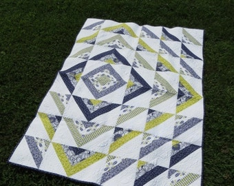 Instant Download - PDF Sewing Pattern -  Ripple Quilt Pattern