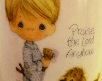 Vintage Precious Moments Praise the Lord Anyhow Mug by Enesco