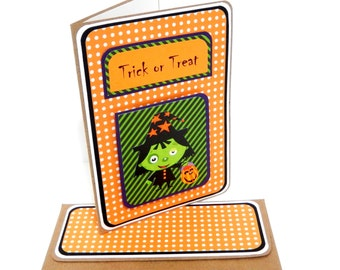 CLEARANCE-Wicked Witch Card with Matching Embellished Envelope
