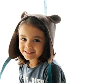 Wild thing ears hat. Kids hood, costume bonnet. Dress up playing hat. Unisex. Ready to ship.