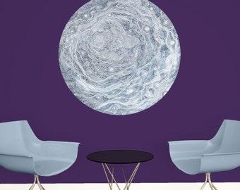 Celestial Moon Wall Decal - Astronomy Art by Elise Mahan