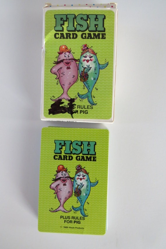 Vintage go fish card game playing cards hoyle by for Fish card game
