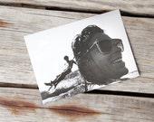 Martha's Vineyard Surfers Black and White Photograph