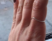 Hammered Sterling Silver Peaked Chevron Ring - Made to any size for any finger midi or knuckle- custom made to order