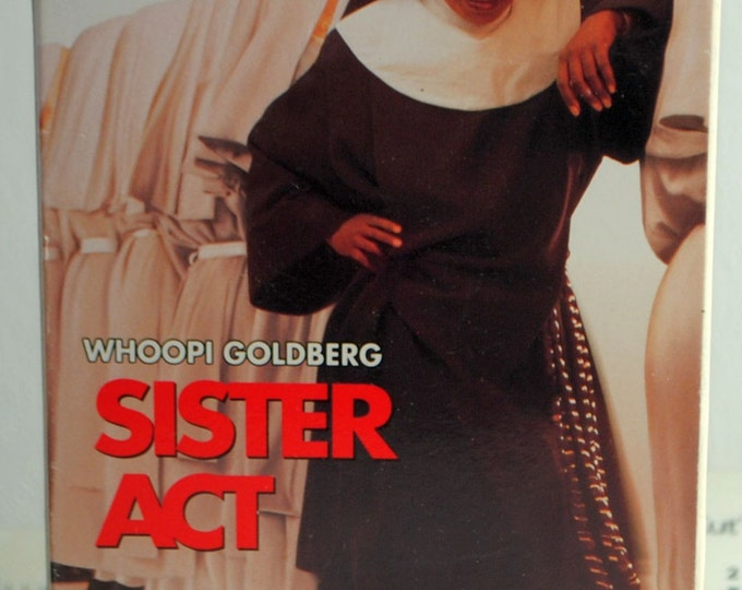 Sister Act Vintage VHS Tape - 1992 - Whoopi Goldberg - VCR - Collectible - Movie - Comedy - Nun - Cops - Murder - Church - Choir - Tape