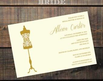 Personalized Wedding Shower Invite , Bridal Shower Invitation , Wedding Shower Invite