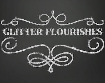 Glitter Clipart, Glitter Clip Art, Digital Glitter, Glitter Frames, Glitter Flourishes, Clipart, Glitter Graphics