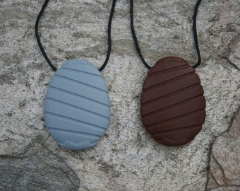 Nursing Necklace - Chewable Egg Pendant