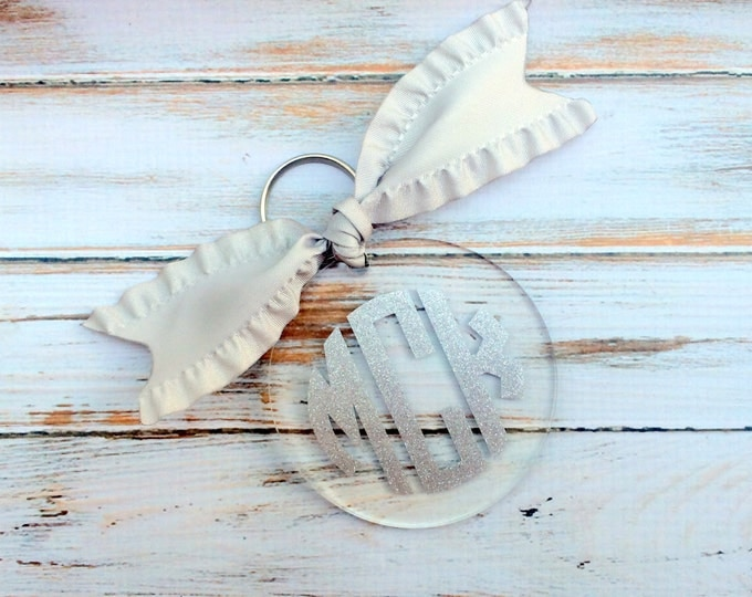 Monogrammed Keychain, Monogram Keychain, Monogram Acrylic Key chain, Monogrammed Gifts, Personalized gifts, Bridesmaid gift,