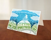 Good Things - Folded Greeting Card - Papercut Illustration - Encouragement - Congratulations