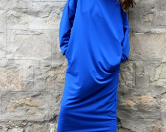 Blue Maxi Dress, Caftan dress, Kaftan, blue dresses for women, Oversized dress, Long sleeve dress, Blue dress, Winter Dress, 134.118