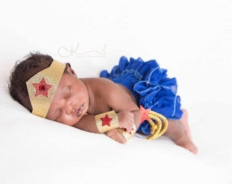 BABY/Toddler WONDERWOMAN Costume Accessories,  Toddler Wonder Woman, Newborn/Toddler WonderWoman Costume Accessories,Wonder Woman Halloween