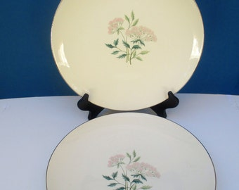 Lifetime China Ming Pattern Edwin Knowles Accent Shape - Dinner Plates - Set of 4