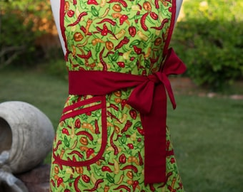 Apron - Vintage Style - Green Chili