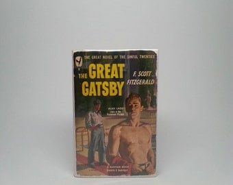 The Great Gatsby by F. Scott Fitzgerald Bantam Paperback 1945 First Trade Paperback Edition 1st Printing Book w/ Scarce Original Dust Jacket
