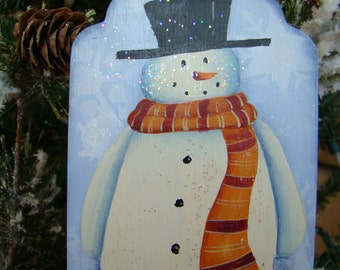 Snowman Christmas Ornament -Personalized