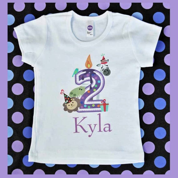 Zoo Birthday Shirt For 2 Year Old Birthday Party By
