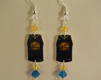 Warriors inspired earrings