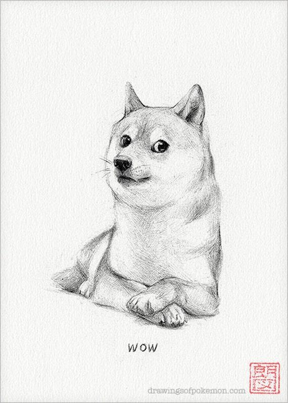Doge meme painting - photo#19