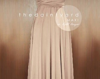 SALE - Petite Maxi infinity dress in Light taupe