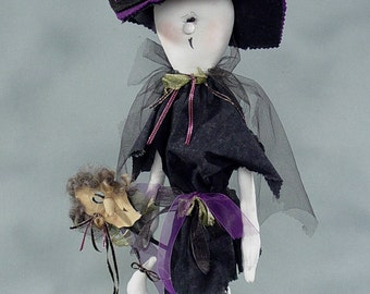 "Pattern: Louella 15"" Ghost Dressed as a Witch"