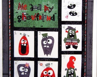 Me And My Ghoulfriend By Zan Taylor Designs Hard-To-Find Quilt Pattern Packet Undated