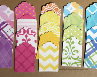 Tags Scrapbook Embellishment Color Gift Tags- Textured Cardstock Tags- Favor Tags -Set of 20