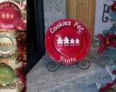 Cookies for Santa plate. Decal only. Great neighbor/friend gift!