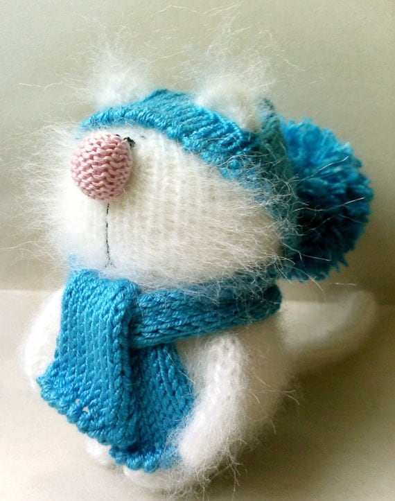Amigurumi Knitted Animals : Cute Cat Kitten Miniature Amigurumi Pet Animals Knitted Toys