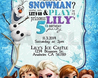 Frozen Birthday Invitation