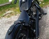 Custom Motorcycle Tank Panel, Custom Motorcycle Accessories, Leather Tank Bib, Cross Stitched Tank Panel, Hand-stitched Embossed Leather