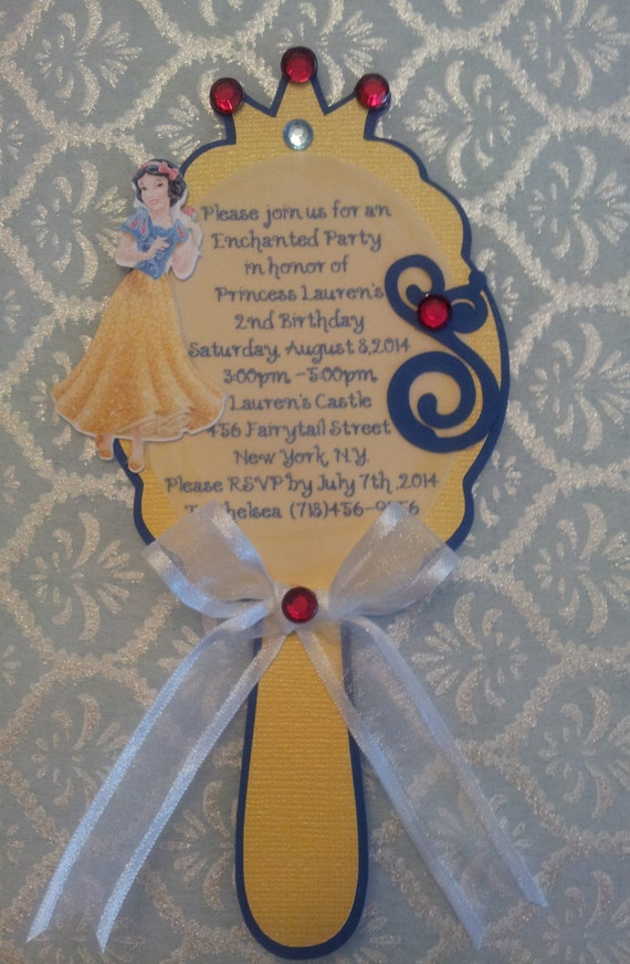 snow white mirror invitation