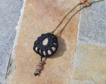 Crocheted Quartz Necklace