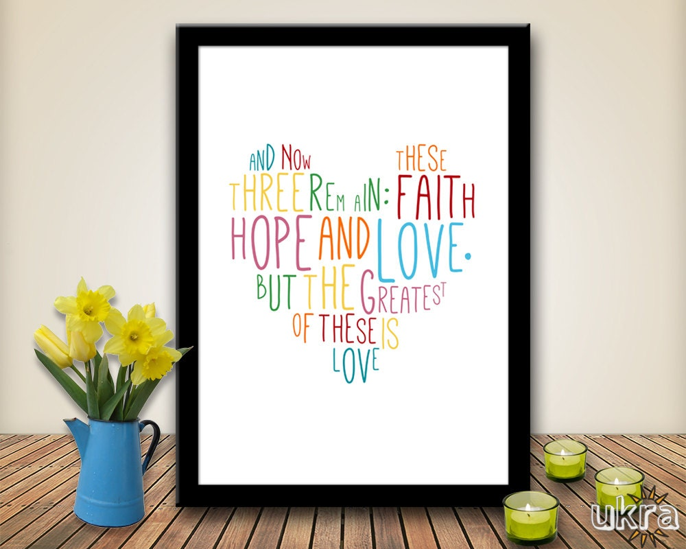 Bible Verse Wall Art faith hope lovebible verse wall artprintable scripture print