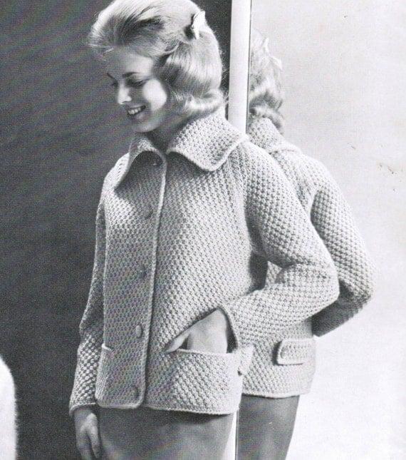 Raglan Jacket Knitting Pattern : Textured Raglan Sleeves Girls Jacket Knitting Pattern PDF