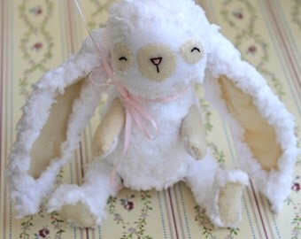 White Rabbit Toy- Tati Rabbit- Toy Bunny -Easter Bunny-Stuffed Animal