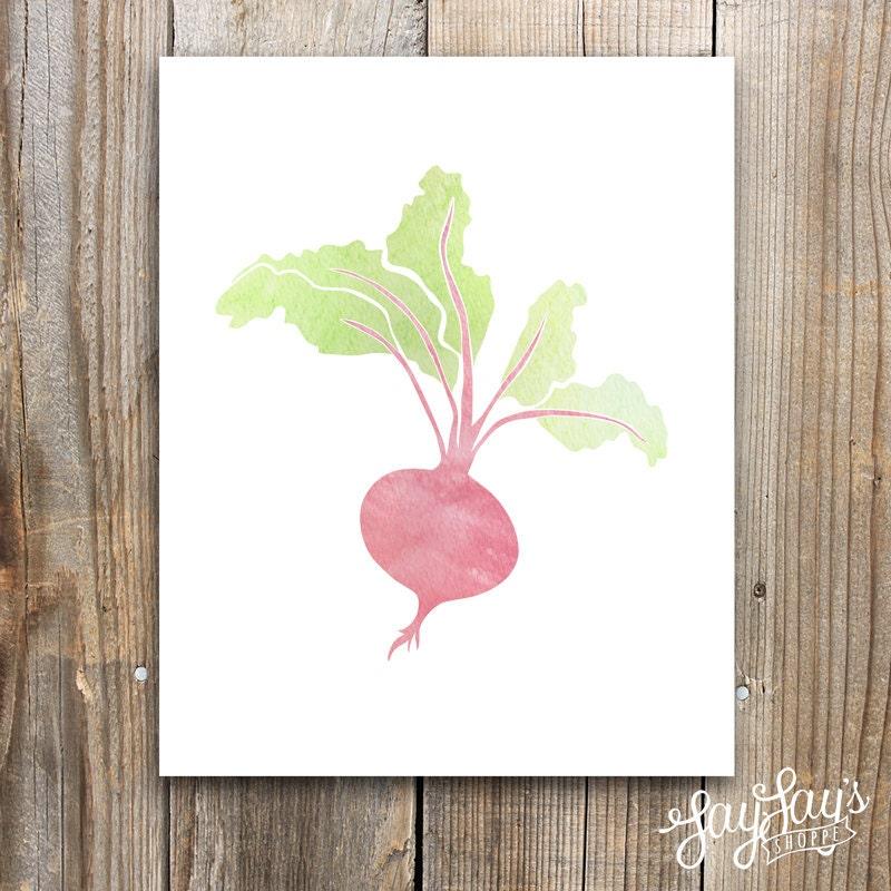 Kitchen Decor Vegetables: Beet Wall Art Kitchen Decor Vegetable Print 5x7 8x10