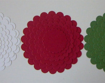 Die Cut Scalloped Circles
