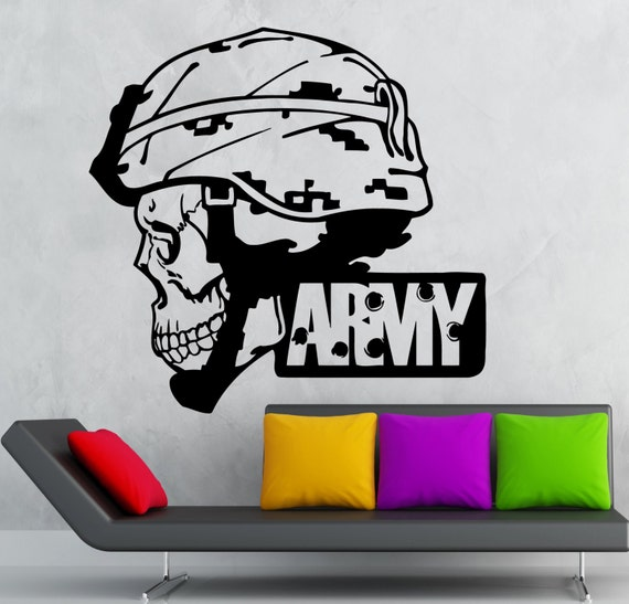 wall sticker vinyl decal army military soldier death war