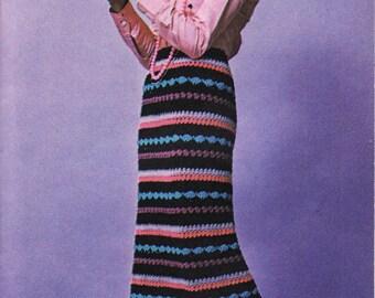 CROCHET PDF, Crochet,  Ladies Skirt, Crochet Skirt Pattern, Skirt Pattern, Crochet Pattern, Vintage Pattern, Instant Download, 1970s