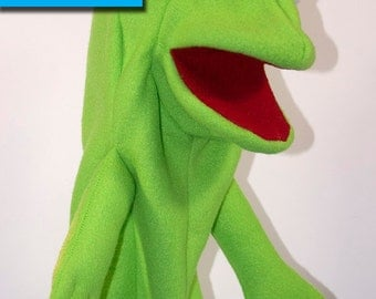 Frog Hand Puppet Pattern with Move-able Mouth