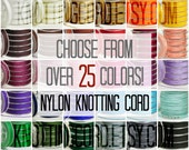 10 Yards 0.6mm Nylon Knotting Cord - 30 Colors - Jewelry Making Supplies - Chinese Knot Braided