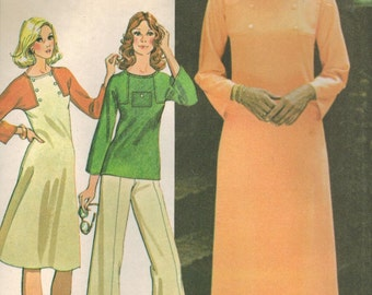 1970s McCall's 4791 UNCUT Vintage Sewing Pattern Misses Dress or Top Size 8 Bust 31-1/2
